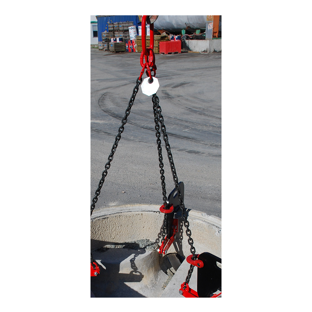 TRILEVEL elingue chaine 3 brins pince buse regard levage manutention TRILEV idmat lifting clamps